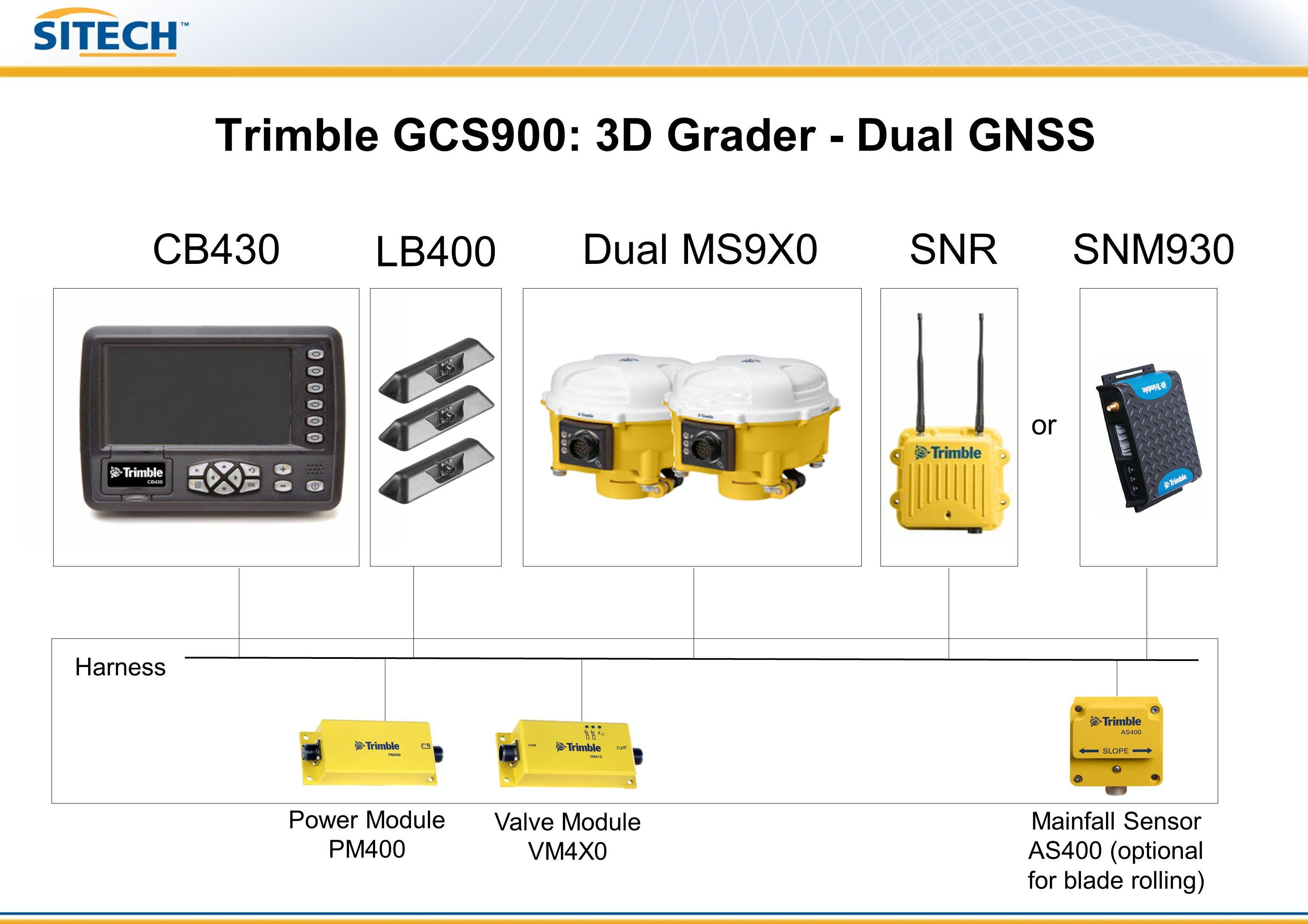 Trimble GCS900: 3D Grader - Dual GNSS