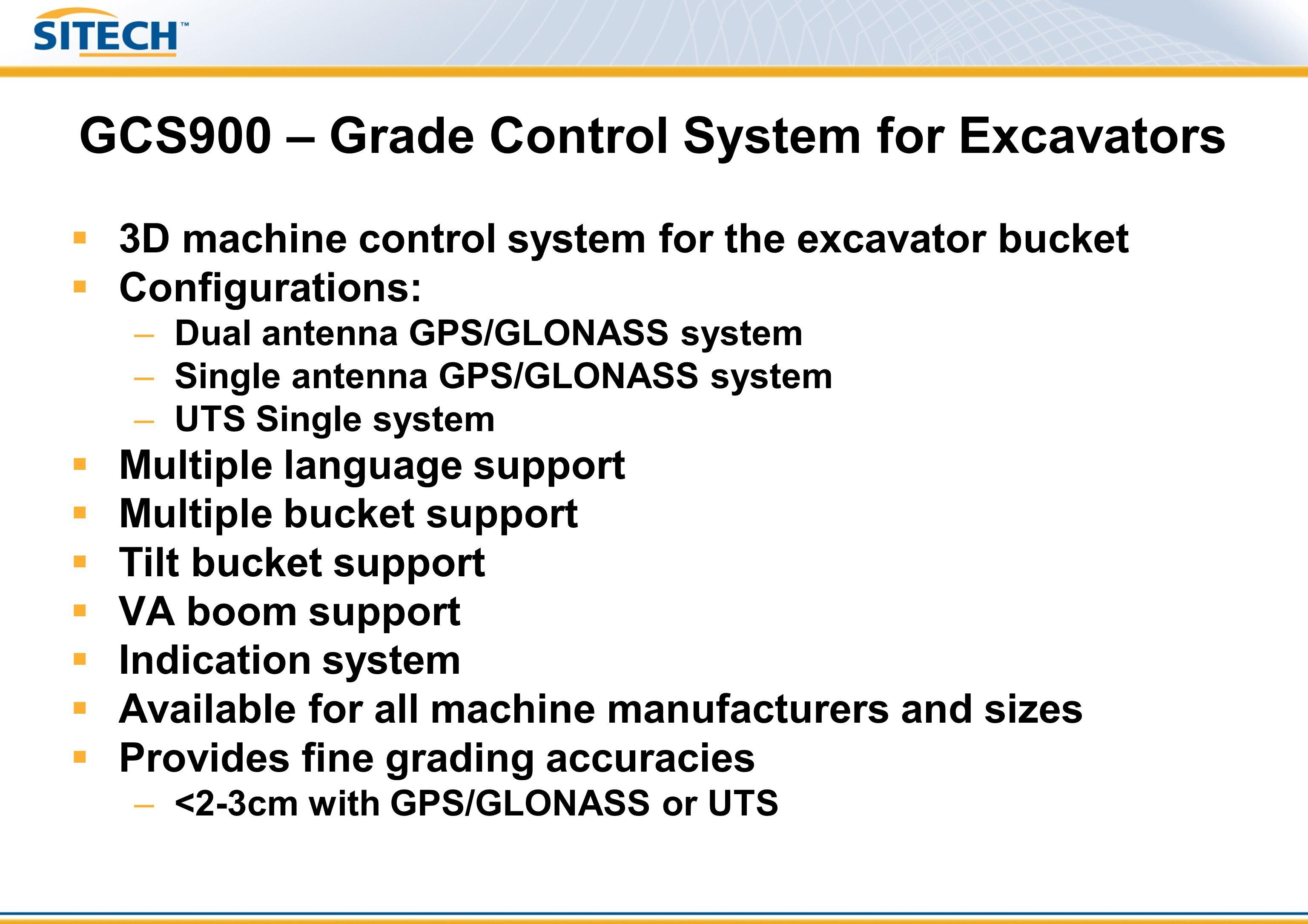 GCS900 – Grade Control System for Excavators