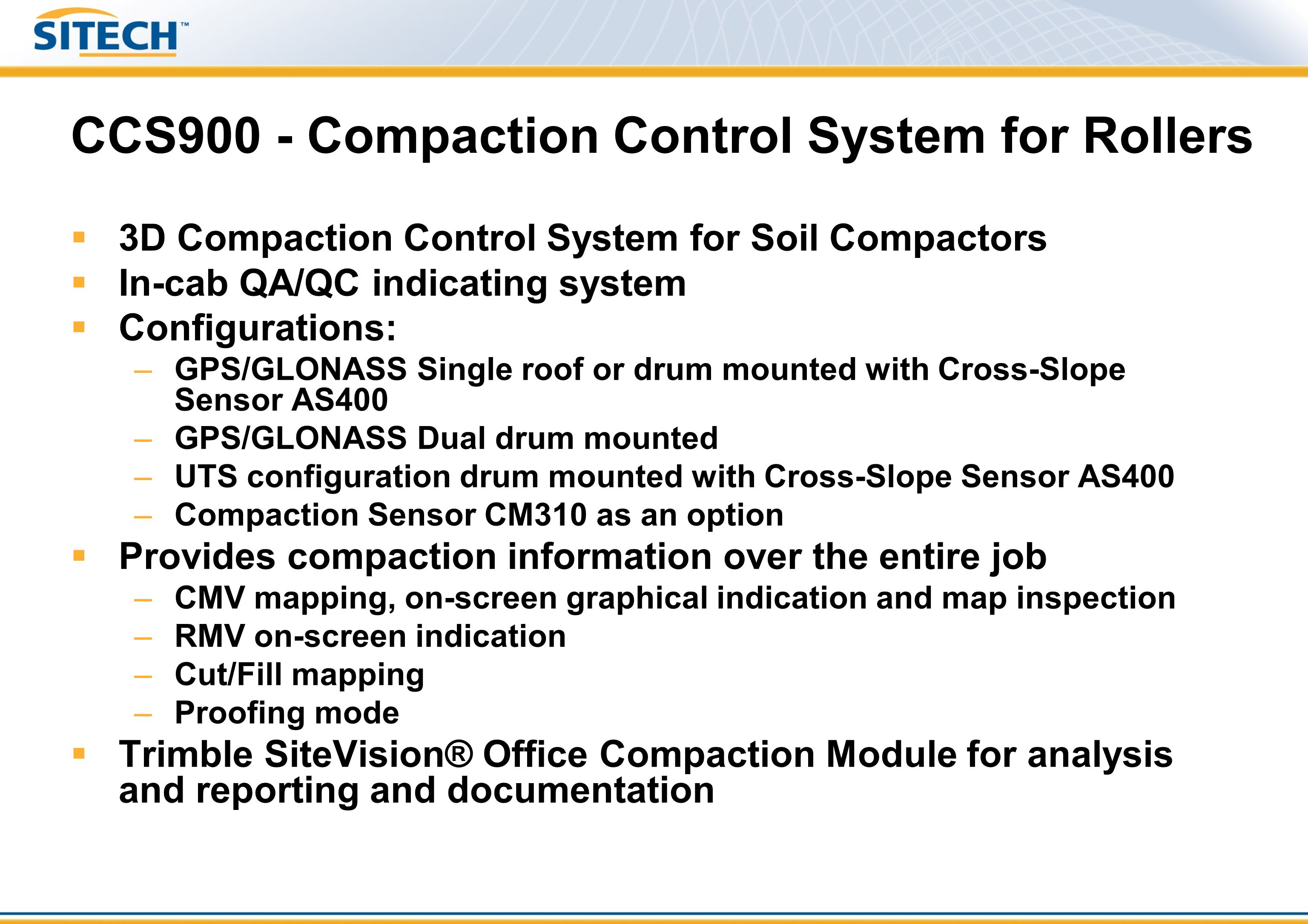 CCS900 - Compaction Control System for Rollers