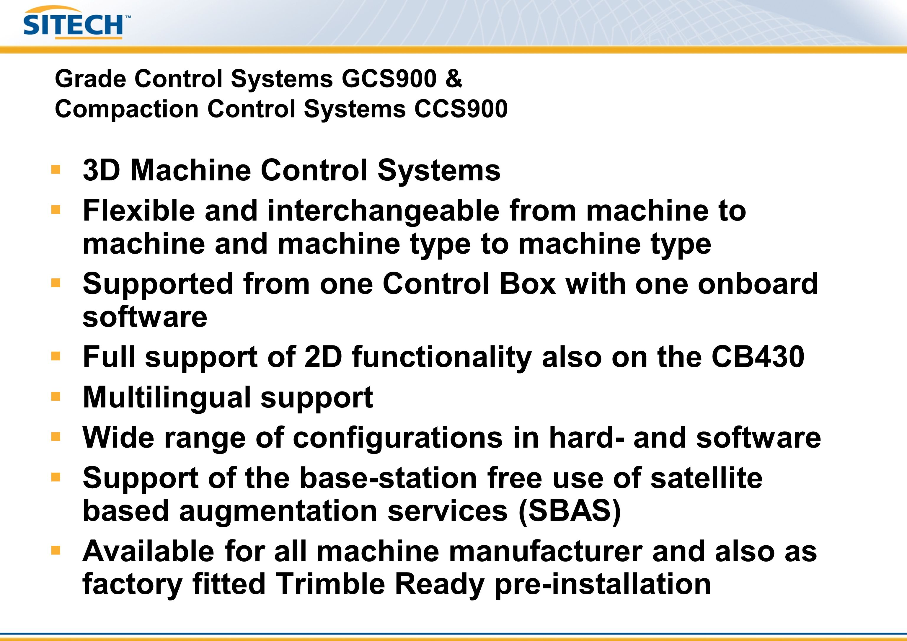 Grade Control Systems GCS900 & Compaction Control Systems CCS900