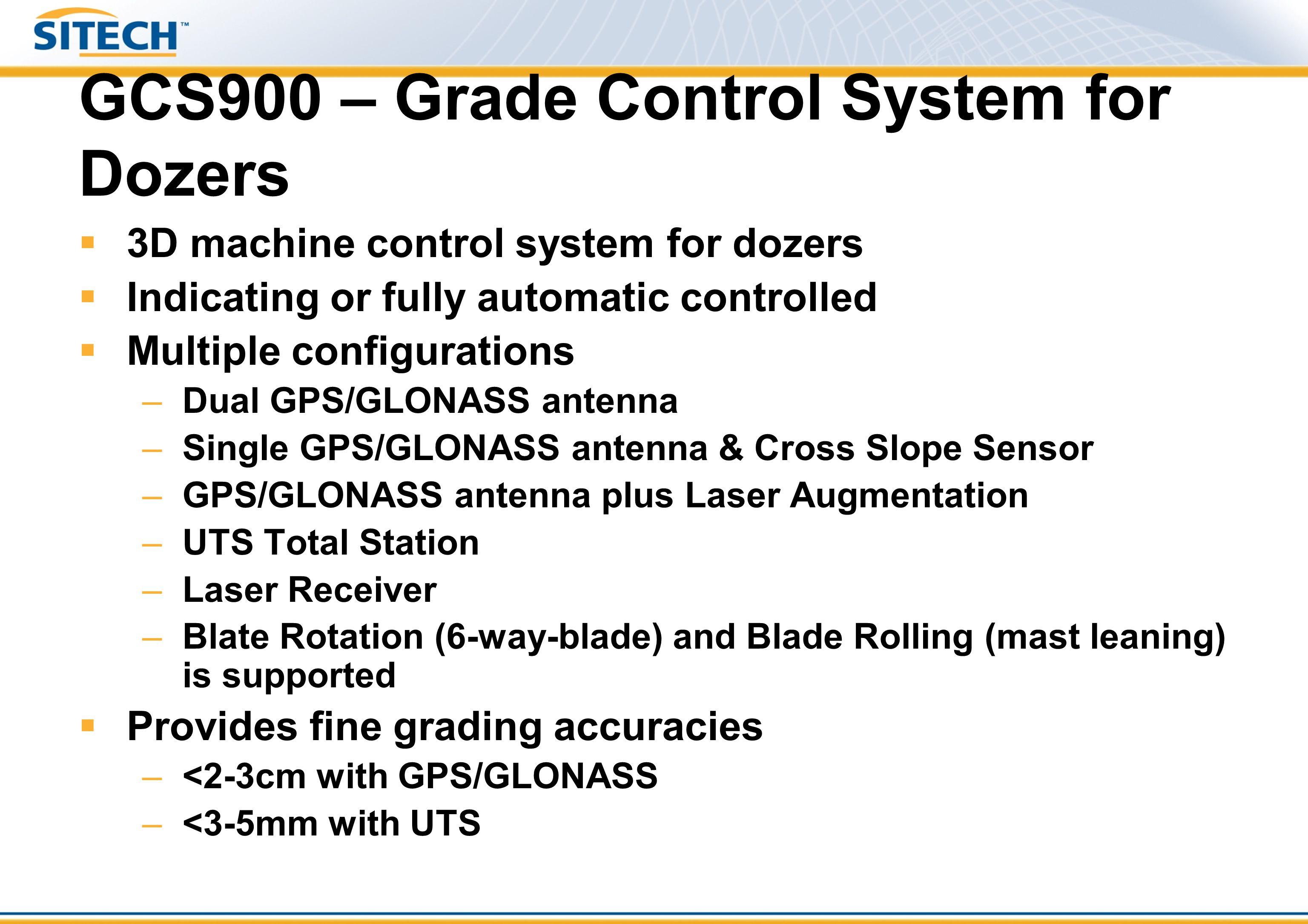 GCS900 – Grade Control System for Dozers