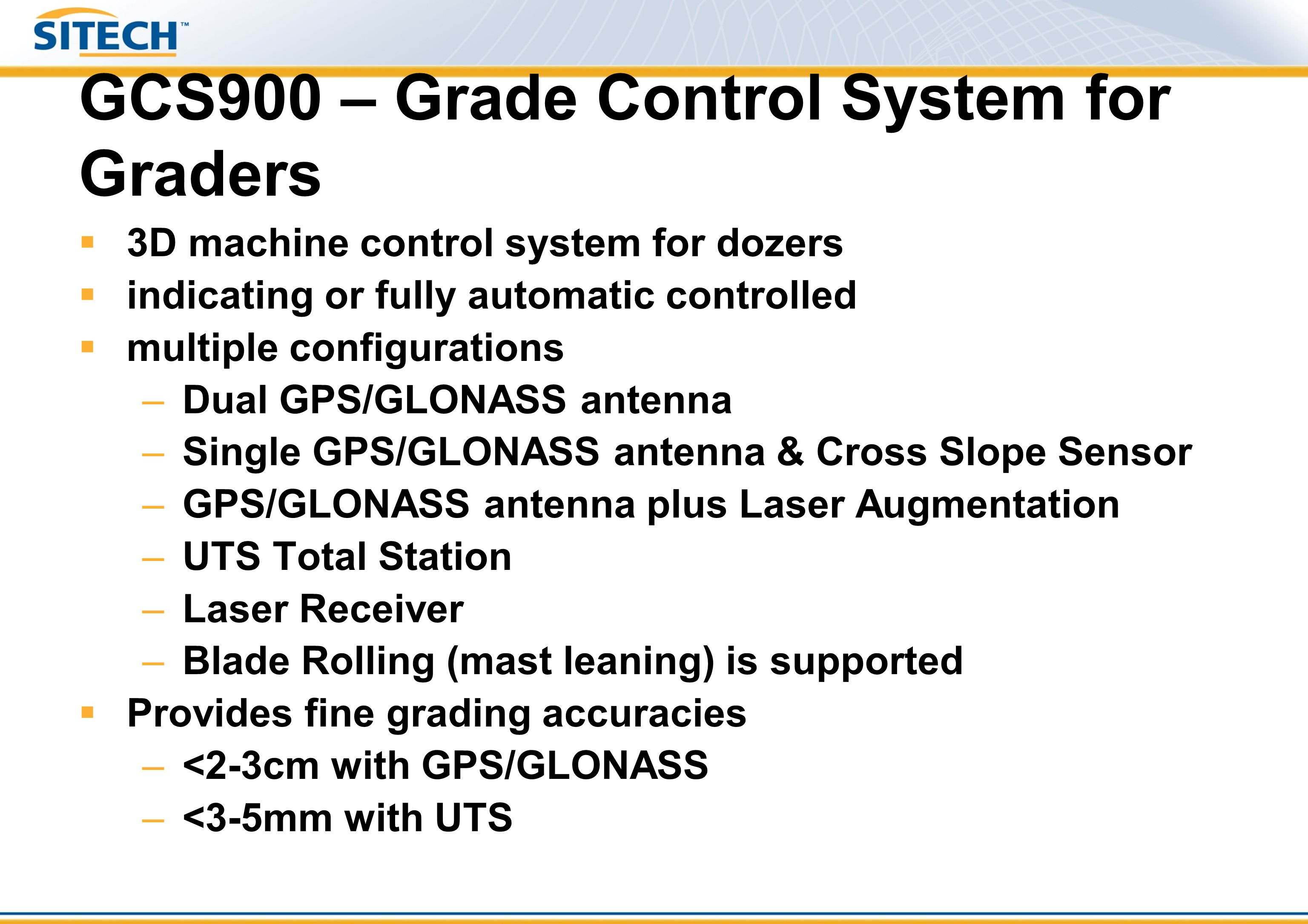 GCS900 – Grade Control System for Graders