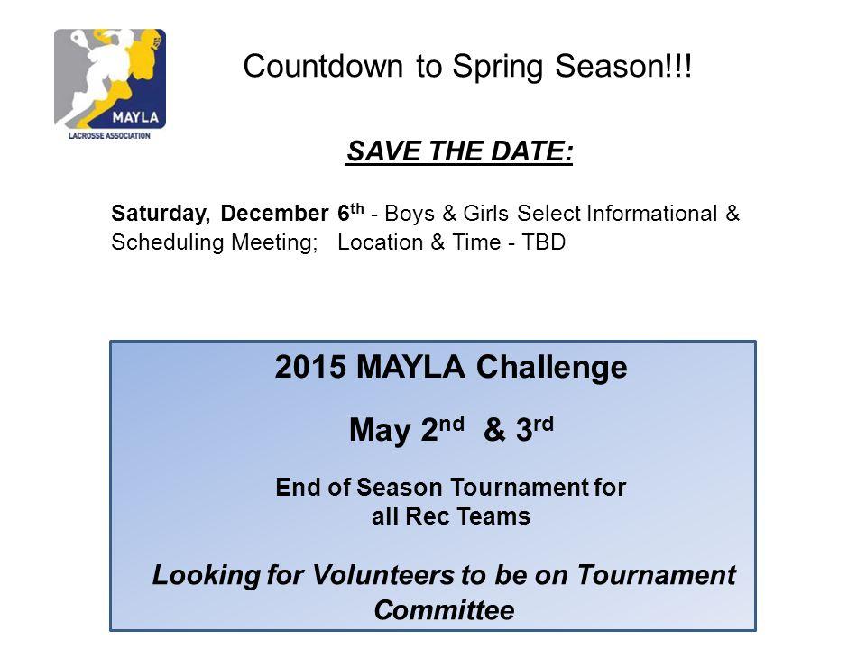 2015 MAYLA Challenge May 2nd & 3rd