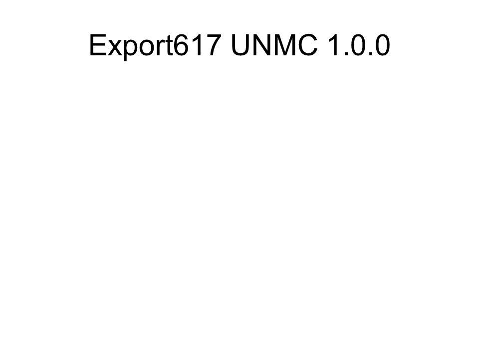Export617 UNMC 1.0.0