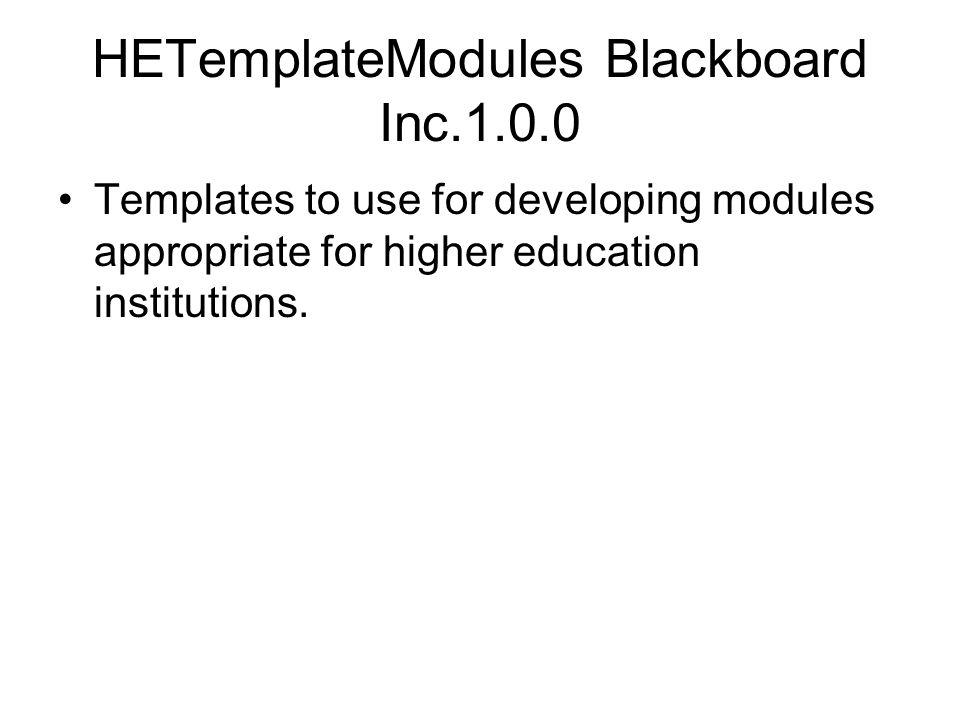 HETemplateModules Blackboard Inc.1.0.0