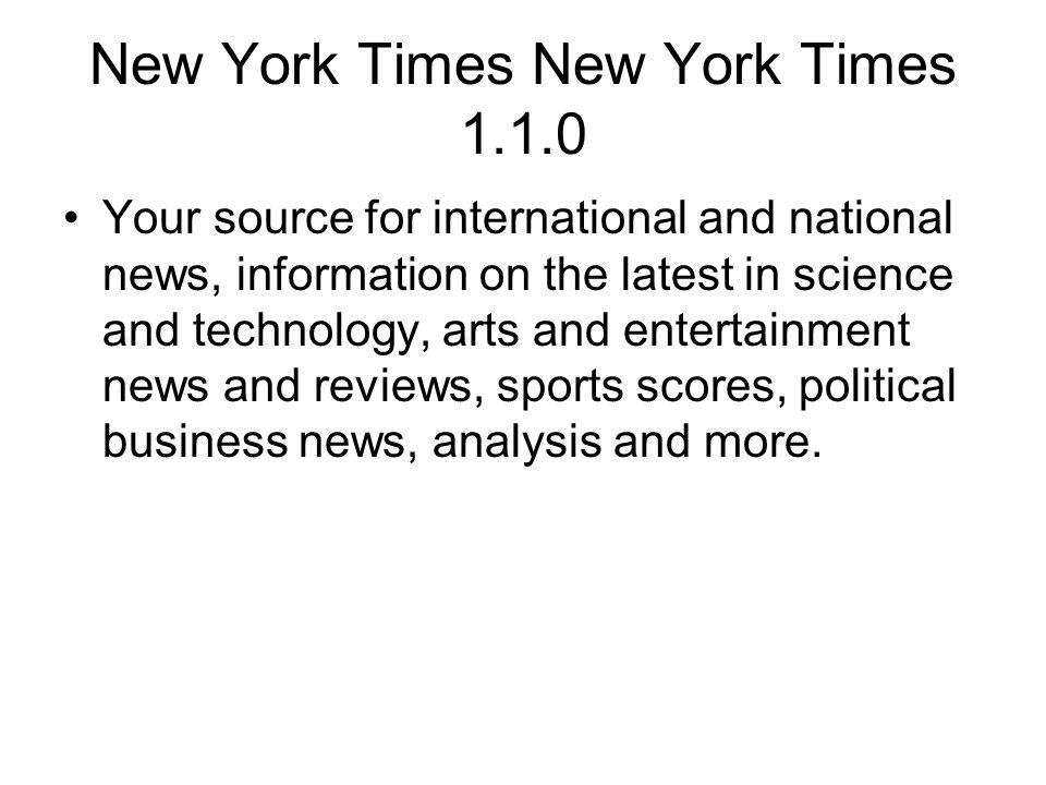 New York Times New York Times 1.1.0