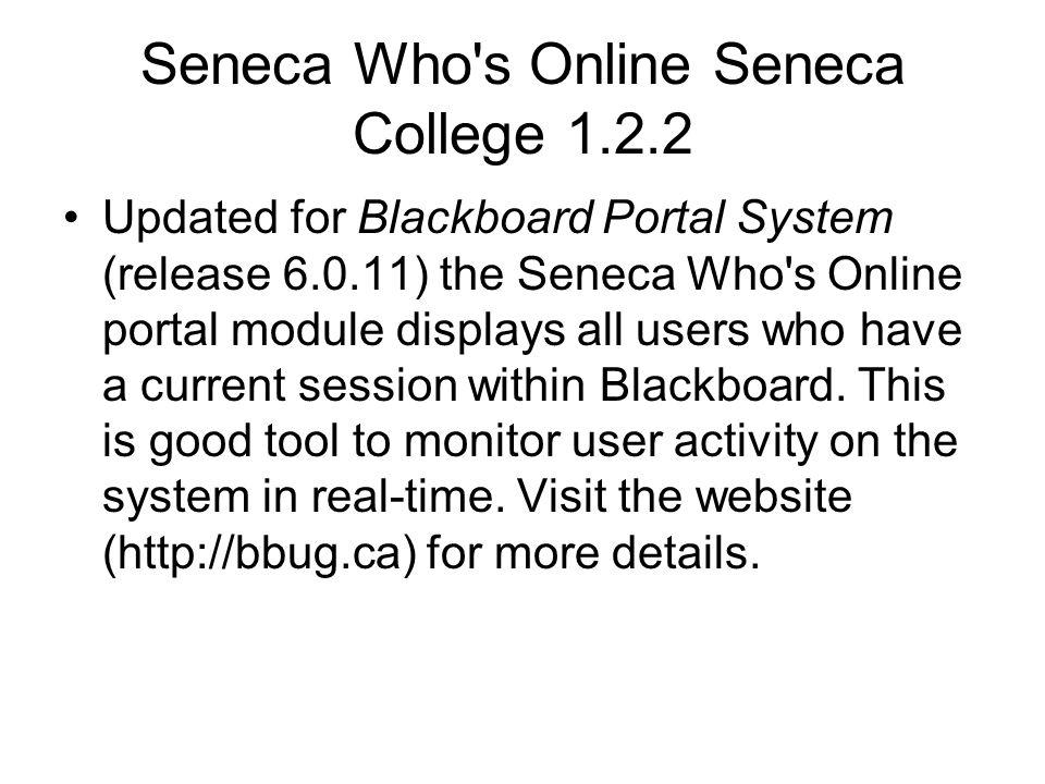 Seneca Who s Online Seneca College 1.2.2