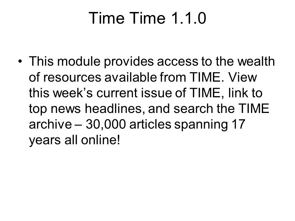 Time Time 1.1.0