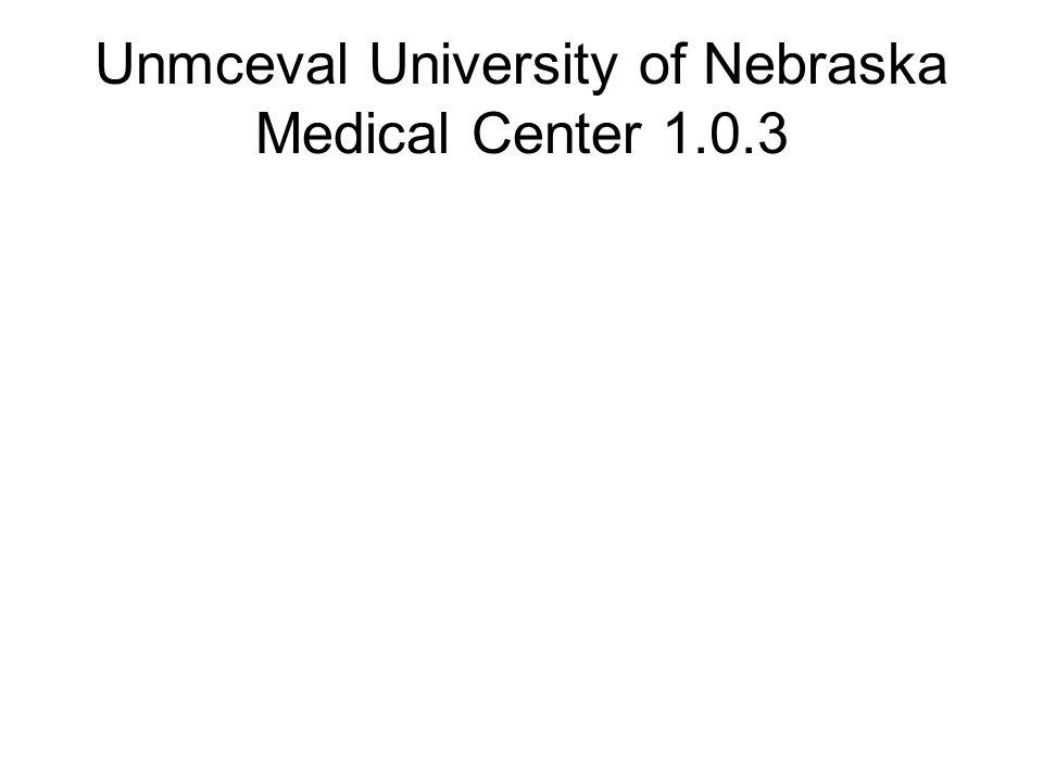 Unmceval University of Nebraska Medical Center 1.0.3