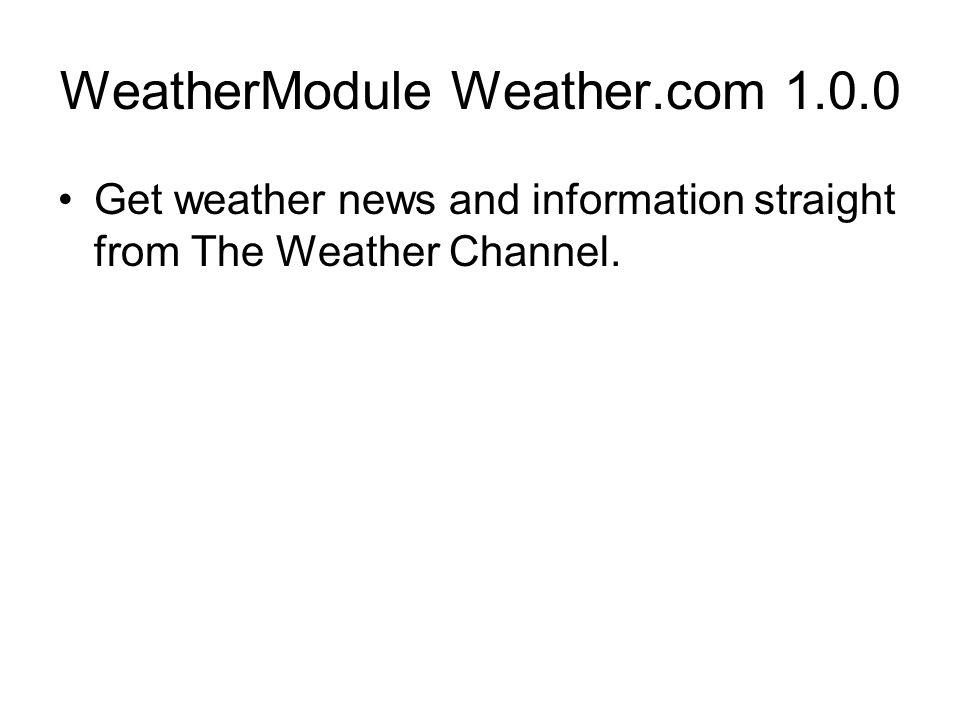 WeatherModule Weather.com 1.0.0
