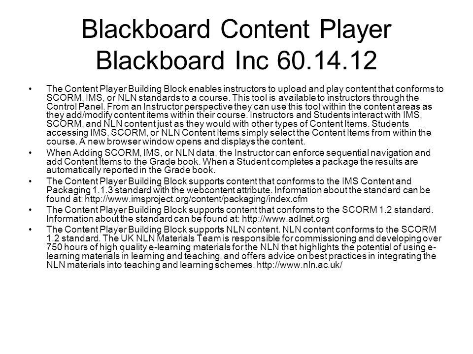 Blackboard Content Player Blackboard Inc 60.14.12