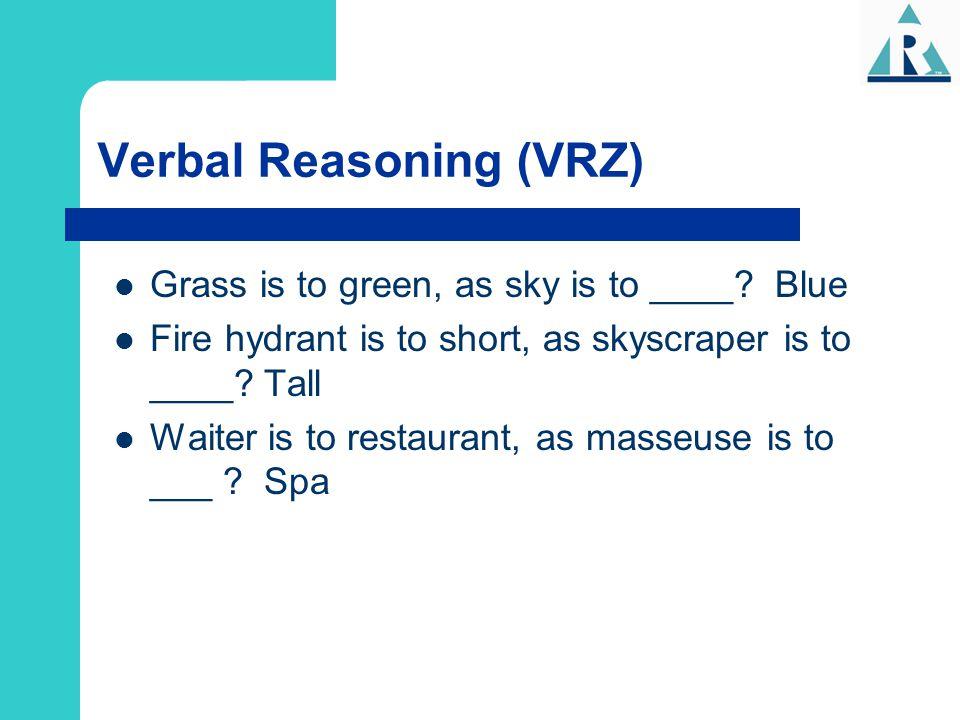 Verbal Reasoning (VRZ)
