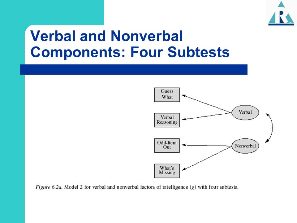 Verbal and Nonverbal Components: Four Subtests