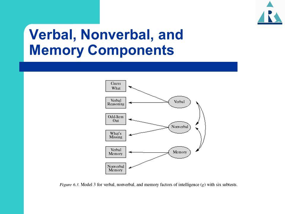 Verbal, Nonverbal, and Memory Components