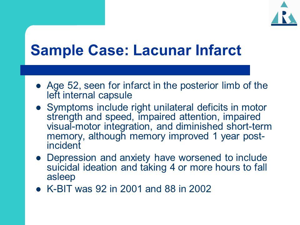 Sample Case: Lacunar Infarct
