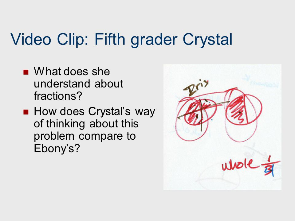 Video Clip: Fifth grader Crystal