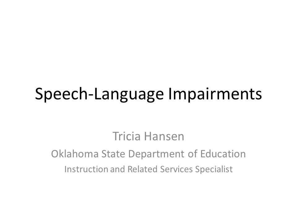 Speech-Language Impairments