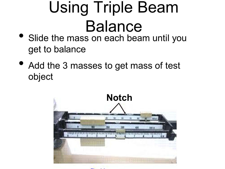 Using Triple Beam Balance