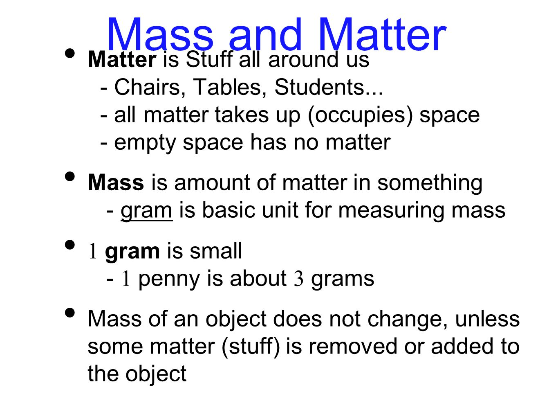 Mass and Matter