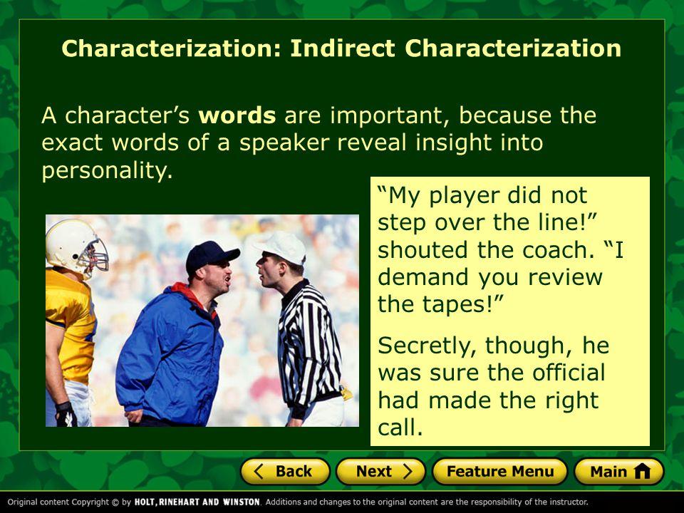 Characterization: Indirect Characterization