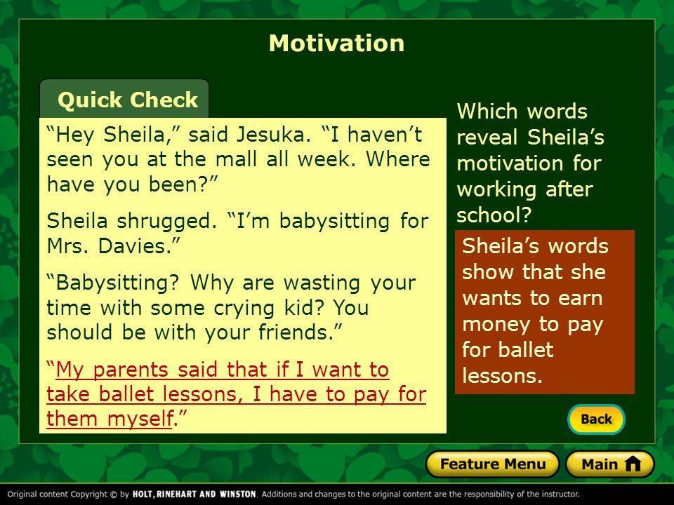 Motivation Quick Check