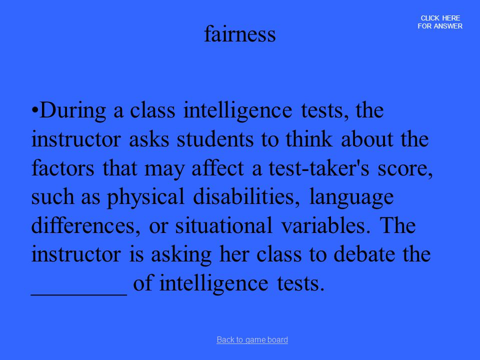 CLICK HERE FOR ANSWER fairness.