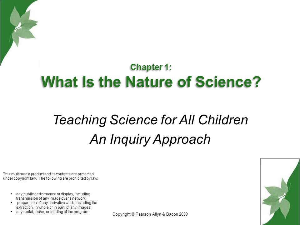 Chapter 1: What Is the Nature of Science