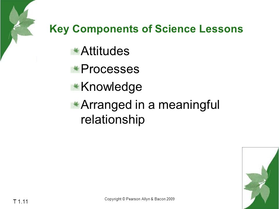 Key Components of Science Lessons