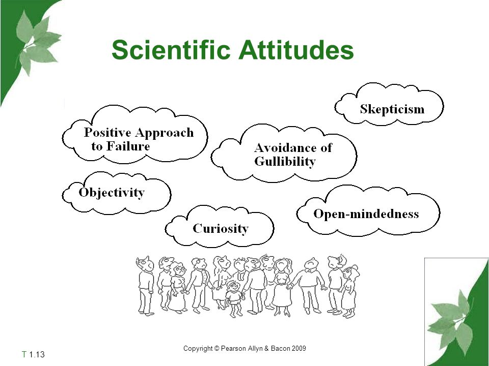 Scientific Attitudes T 1.13