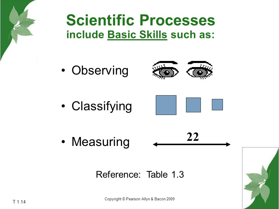 include Basic Skills such as: