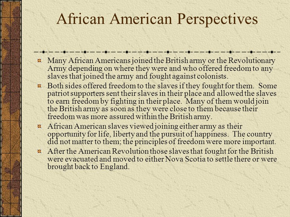 African American Perspectives