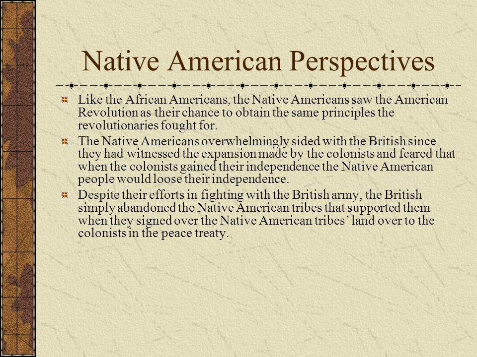 Native American Perspectives