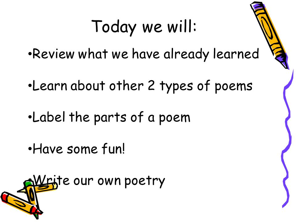 Today we will: Review what we have already learned