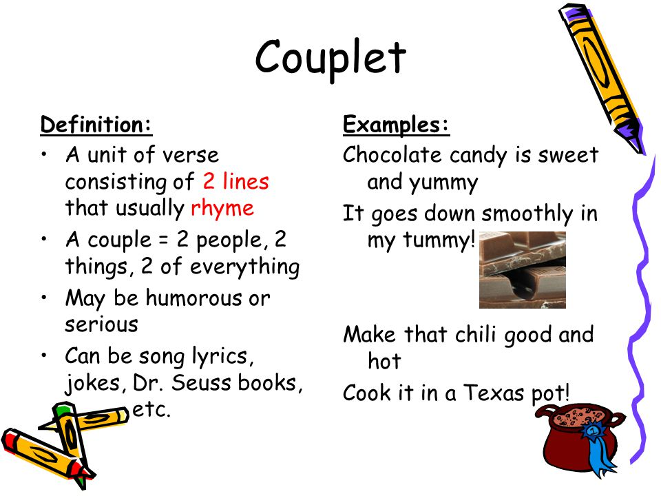 Couplet Definition: Examples: