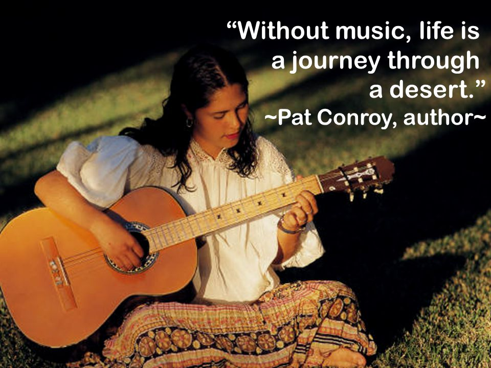 Without music, life is a journey through a desert.