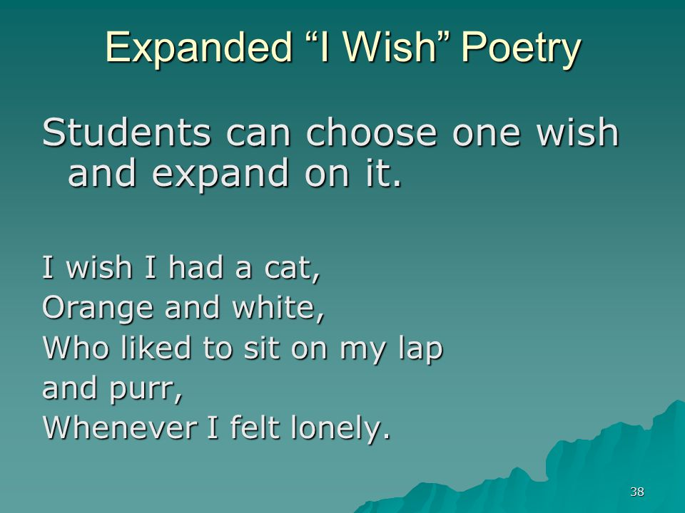 Expanded I Wish Poetry