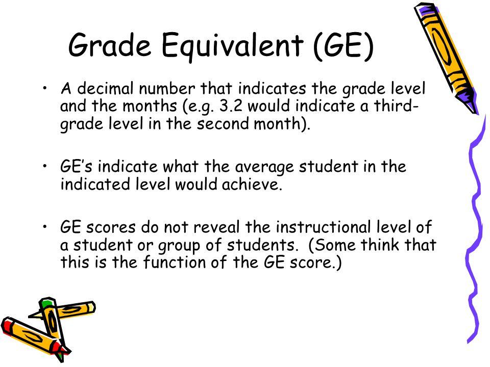 Grade Equivalent (GE)
