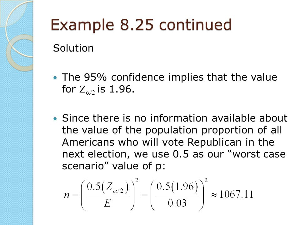 Example 8.25 continued Solution