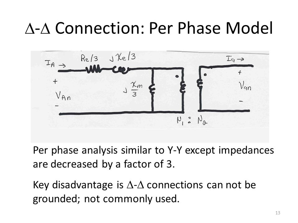 D-D Connection: Per Phase Model