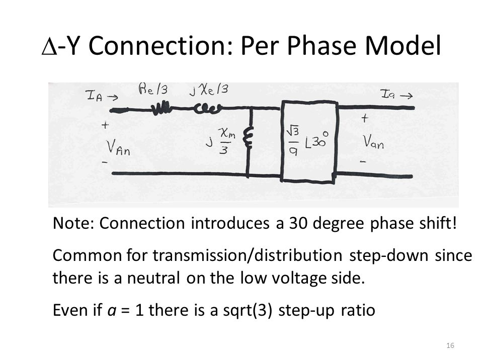 D-Y Connection: Per Phase Model
