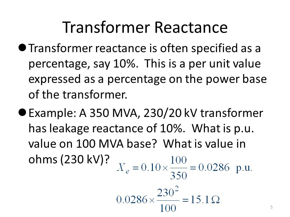 Transformer Reactance