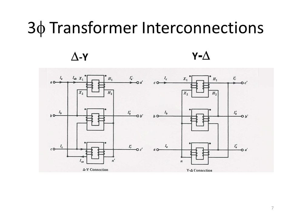 3f Transformer Interconnections