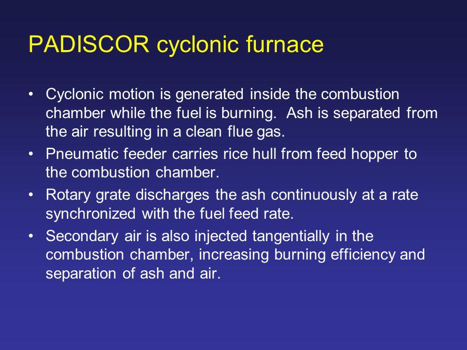 PADISCOR cyclonic furnace