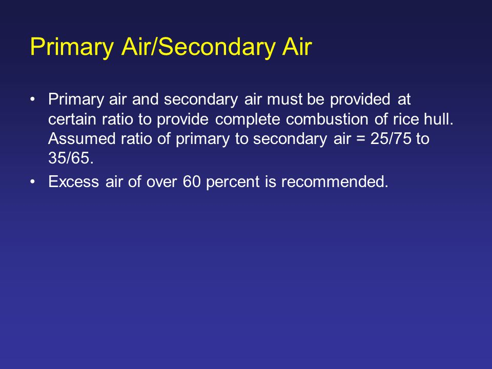 Primary Air/Secondary Air