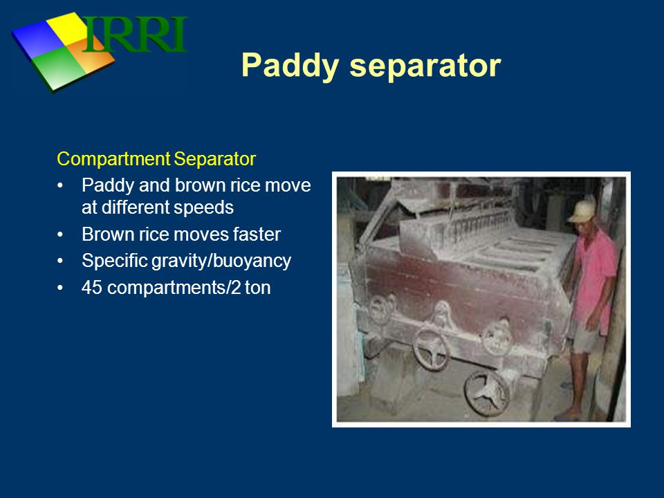 Paddy separator Compartment Separator