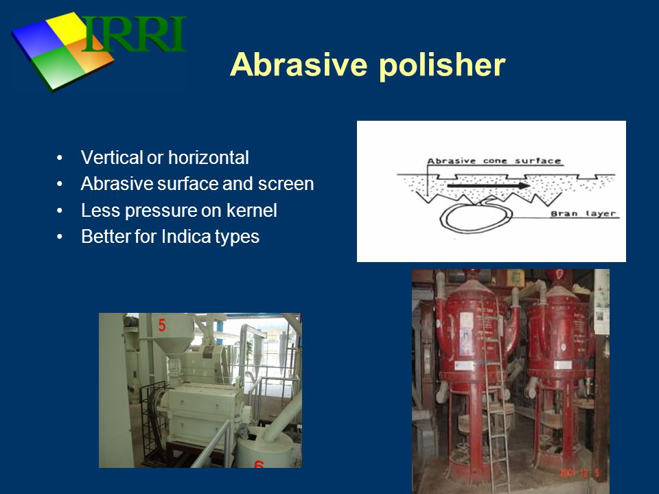 Abrasive polisher Vertical or horizontal Abrasive surface and screen