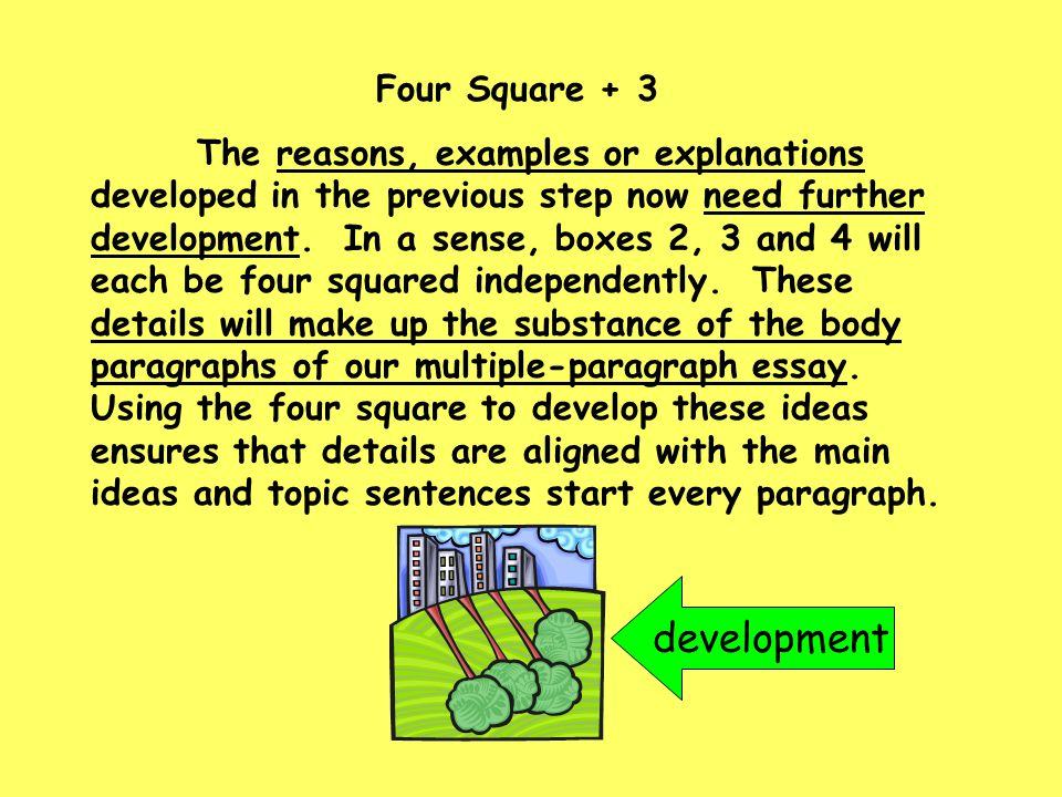 development Four Square + 3