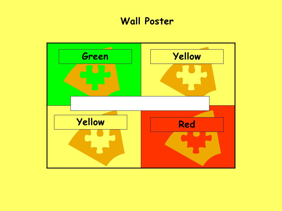 Wall Poster Green Yellow Yellow Red