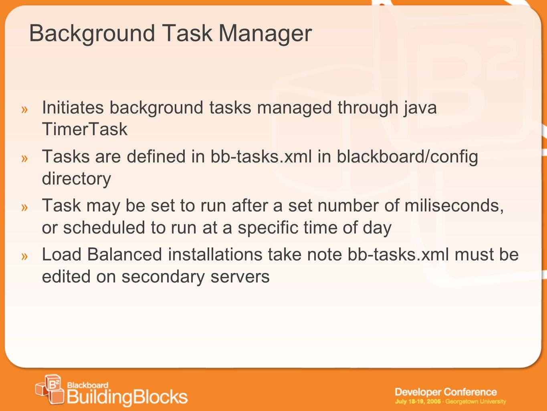 Background Task Manager