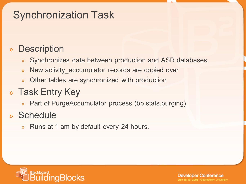 Synchronization Task Description Task Entry Key Schedule